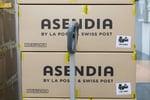 Asendia logo on parcel
